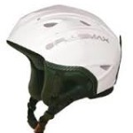 PlusMax white open face helmet